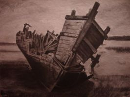 wrecked ship by chedley