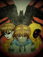 The Proxies [Masky, Hoodie, Ticci Toby and Slendy] by Tsukiakari-Aya