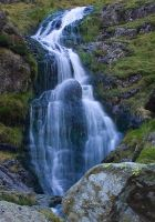 Lakes waterfall stock by AngiWallace