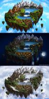 Flying Island Map II details by Saarl