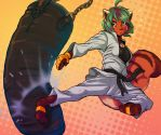 Hana Practicing Her Kicks! by SCPilot