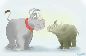Rhino Rendezvous by katproductions6