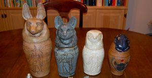 Egyptian Canopic Jars by Rhubarb1590