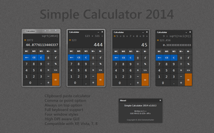 Simple Windows Calculator 2014 v1.0.0.3 by eXtremeHunter1972
