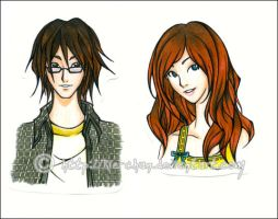 City of Bones : Clary + Simon by Kie-chan