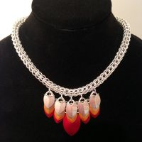 Phoenix Scale Full Persian Nickel Silver Necklace by chef-chad