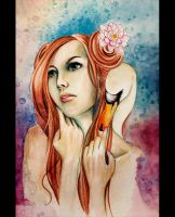 Leda and the Swan by snowmask