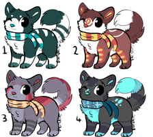 snow dogs adoptable batch(CLOSED) by P0CKYY