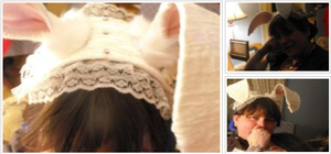 how to make gothic lolita rabbit ear hat tutorail by kristyd