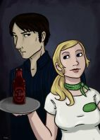 True Blood Bill and Sookie by RevisionOfLines
