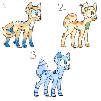 (CHEAP n OPEN) 3 Doggo adopts! by FoobyFob