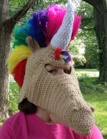 unicorn hat mask by Drgibbs