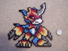 Flamedramon Perler by Neeko96