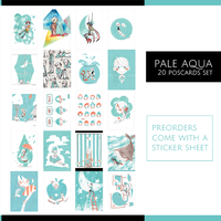 Pale Aqua Postcard Set by ah-bao
