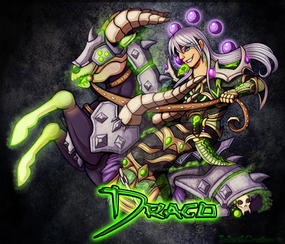 Drago Affliction Warlock Class Mount Badge by ZulterithCreations