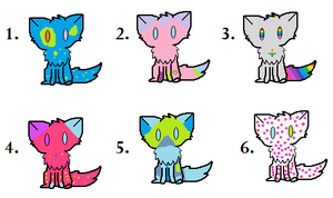 1 point Kitty Adoptables! by Blisspaw