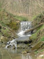 brook  waterfall by Promiseoftheraven
