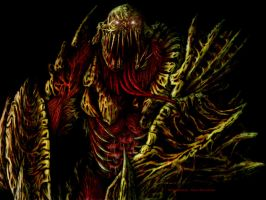 Dead Space Necromorph concept 1 COLOR by VladiiimiR
