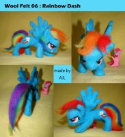 [MLP] Wool Felt 06:Rainbow Dash by AnJeyLi