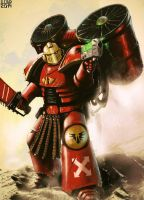 Pre Heresy Blood Angels Assault marine by Ilqar