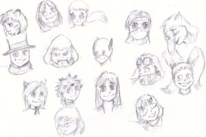 Daily Doodles9: Faces by KidRaid