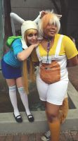 fionna and cake by NeonWolf94