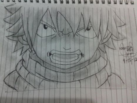 Natsu Dragneel Noteboook Drawing by Erza-1703