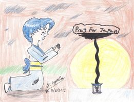 Pray For Japan 10 - Ami-chan's Vigil by AnimeJason2010