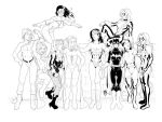Girls of Marvel and DC by RickMays