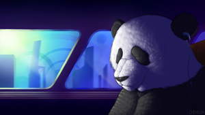 One Chilled Panda by Chevrium