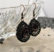 Gothic rose earrings by CatsWire