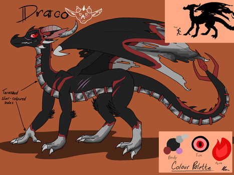 Draco the Dragon of Calamity by SilverWingInk