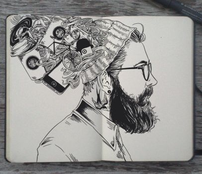 #115 The Head of a Hipster by Picolo-kun