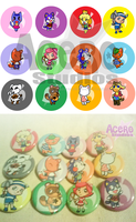Animal Crossing Buttons by AceroStudios