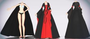 Medieval dress and cape- Download by MichiKairin