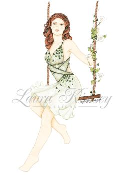 Holiday Pinup: Luck Be a Lady by laurakimseydesigns