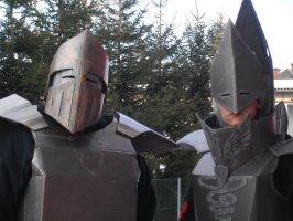 Fasching 2015 Cardboard knight and mage 3 by killermedic