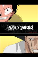 Luffy x Zaraki by lrslink