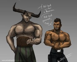 Ironbull And James Vega by S-Kinnaly