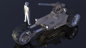 Scout Bike WiP by Quesocito