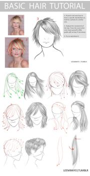 Basic hair tutorial - hair styles by LeeMinKyo