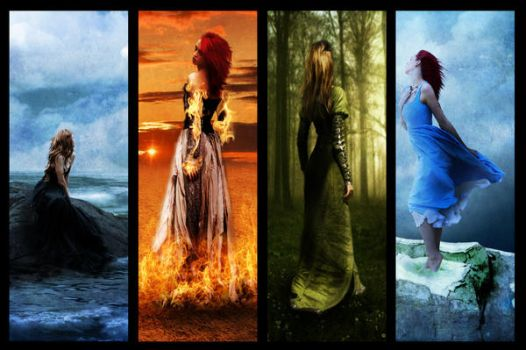 The Four Elements by GypsyCoyote
