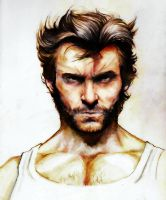 Hugh Jackman Wolverine colo final by YannWeaponX