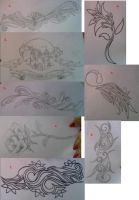Tattoo designs for xtina17 by average-sensation