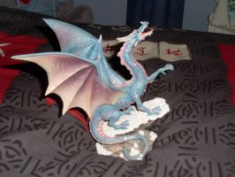 Blue Dragon Ornament by dracosear