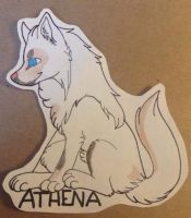 :Commission: Athena Badge by NummyWummy