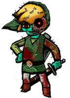 Zombie Toon Link by Varegess