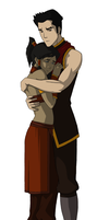 Korra and Mako - Fire Nation by erinlily86