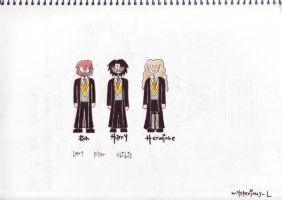 harry potter chibis by Mysterious-L