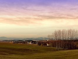 Beautiful panorama under a cloudy sky by patrickjobst